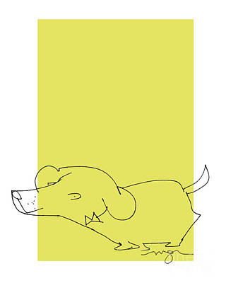 Digital Art - Yellow Dog by Marilyn MacGregor