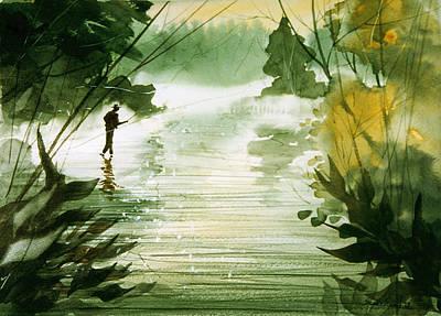 Yellow Dog River Art Print by Sean Seal