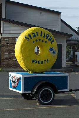Photograph - Yellow Donut by Sara Stevenson