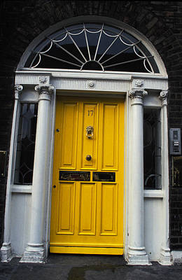 Yellow Door In Dublin Art Print by Carl Purcell
