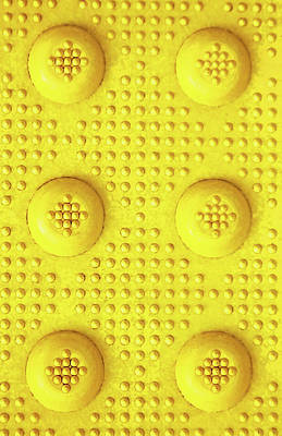Photograph - Yellow Dot Industrial Portrait by Tony Grider