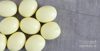Photograph - Yellow Easter Eggs by Andrea Anderegg