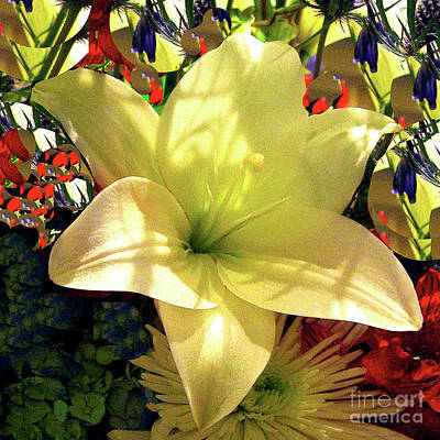 Photograph - Yellow Easter Lily by Merton Allen