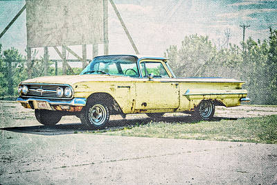Photograph - Yellow El Camino by Pamela Williams