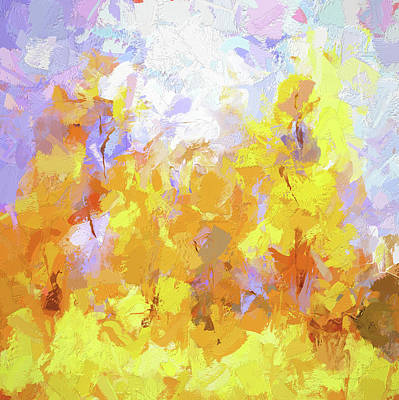 Digital Art - Yellow Energy by David King