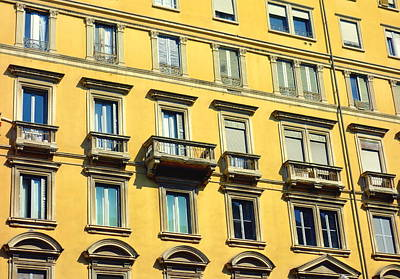 Photograph - Yellow Facade by Valentino Visentini