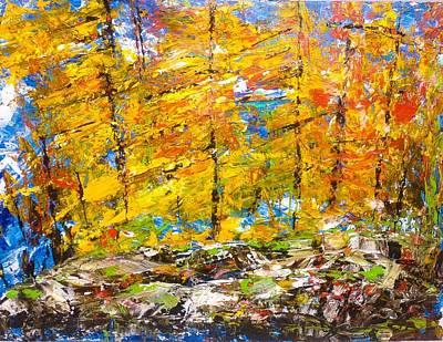 Painting - Yellow Fall Burst by Desmond Raymond