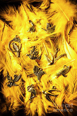 Birds Rights Managed Images - Yellow feather flock Royalty-Free Image by Jorgo Photography - Wall Art Gallery