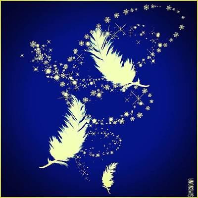 Mixed Media - Yellow Feather by Simenona Martinez