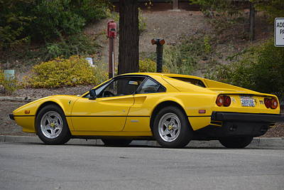 Photograph - Yellow Ferrari by Dean Ferreira
