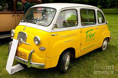 Yellow Fiat 600 Multipla Art Print