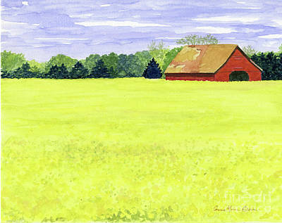 Painting - Yellow Field by Anne Marie Brown