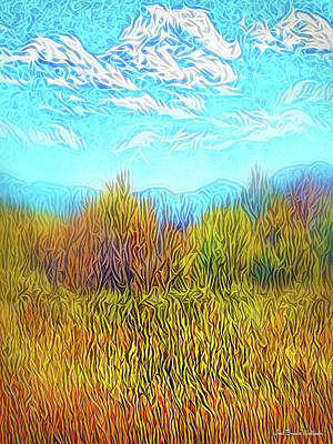 Digital Art - Yellow Field Clouds by Joel Bruce Wallach