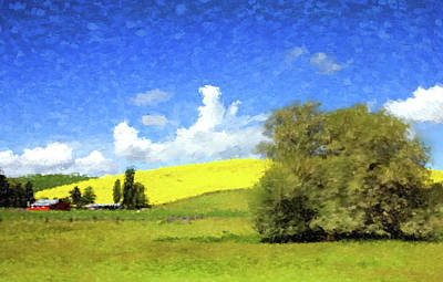 Painting - Yellow Field by Gary Grayson