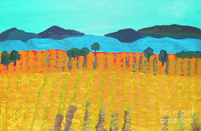 Painting - Yellow Field, Painting by Irina Afonskaya