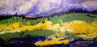 Yellow Fields Art Print by Maria Curcic