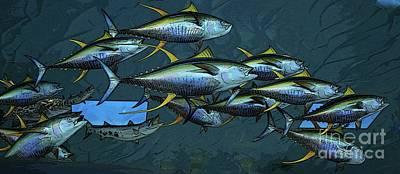 Photograph - Yellow Fin Tuna II by Craig Wood