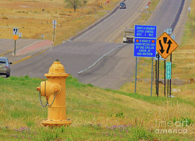Photograph - Yellow Fire Plug Ver 2 by Larry Mulvehill