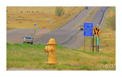 Photograph - Yellow Fire Plug Ver 3 by Larry Mulvehill