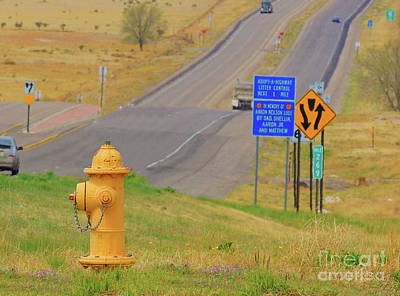 Photograph - Yellow Fire Plug Ver 4 by Larry Mulvehill