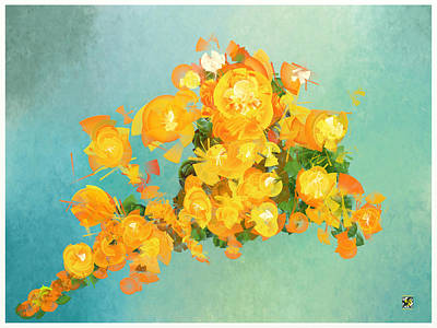 Digital Art - Yellow Fire Spring by Douglas Day Jones