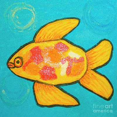 Painting - Yellow Fish, Painting by Irina Afonskaya
