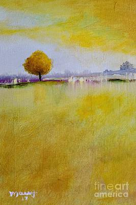 Painting - Yellow Flamboyant Near The River by Alicia Maury