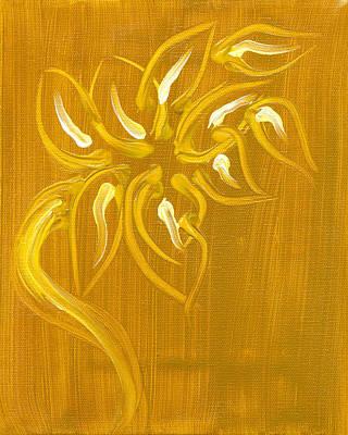 Yellow Flower 1 Art Print by Melissa Moore