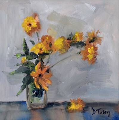 Painting - Yellow Flower Bouquet by Donna Tuten