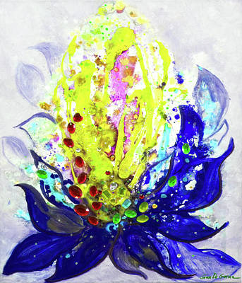 Painting - Yellow Flower by Gina De Gorna