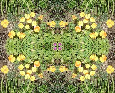 Photograph - Yellow Flower Photo 1492 Composite by Julia Woodman