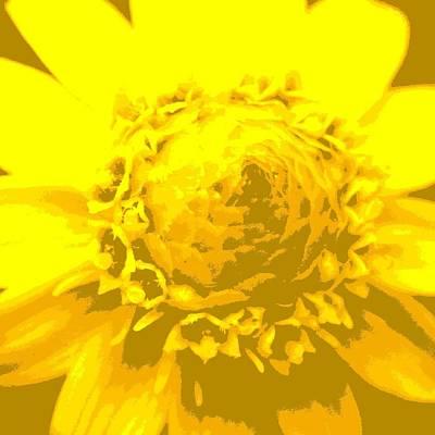 Digital Art - Yellow Flower1 by Kumiko Izumi
