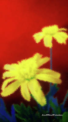 Digital Art - Abstract Floral Art 3 by Miss Pet Sitter