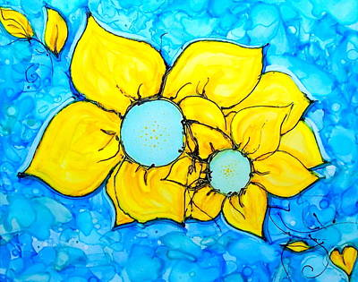 Painting - Yellow Flowers   by Danielle Parent