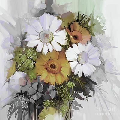Yellow Flowers Original by Gull G