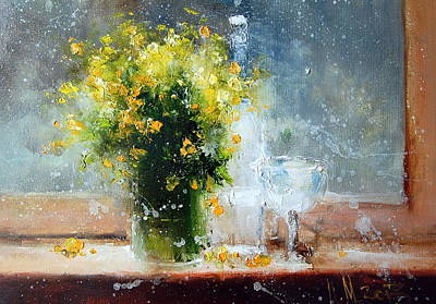 Painting - Yellow Flowers by Igor Medvedev