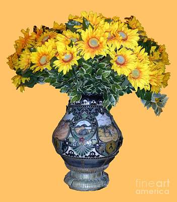 Photograph - Yellow Flowers In Vase by Francesca Mackenney