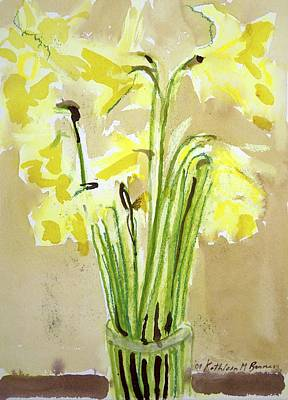 Yellow Flowers In Vase Art Print