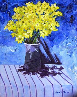 Painting - Yellow Flowers by Jamie Frier