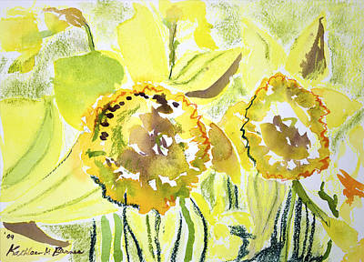 Painting - Yellow Flowers by Kathleen Barnes