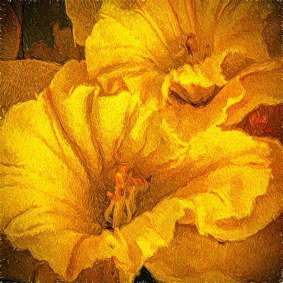 Photograph - Yellow Flowers by Lewis Mann