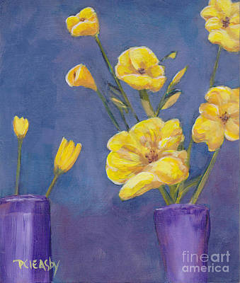 Painting - Yellow Flowers by Patricia Cleasby