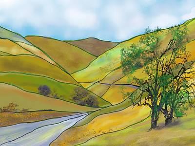 Yellow Foothills Art Print