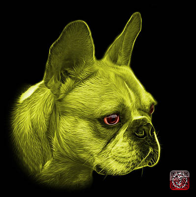 Painting - Yellow French Bulldog Pop Art - 0755 Bb by James Ahn