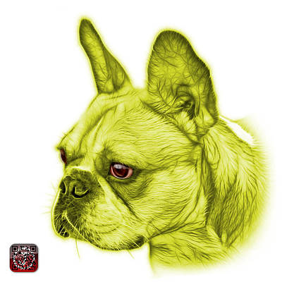 Painting - Yellow French Bulldog Pop Art - 0755 Wb by James Ahn