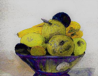 Digital Art - Yellow Fruit Painting By Lisa Kaiser by Lisa Kaiser