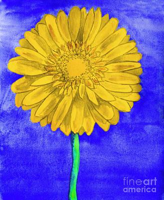 Painting - Yellow Gerbera by Irina Afonskaya