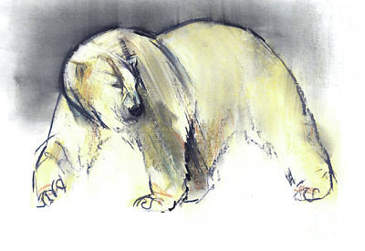 Paws Painting - Yellow Ghost by Mark Adlington