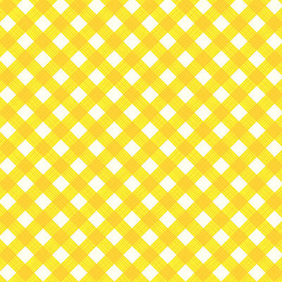 Yellow Gingham Fabric Cloth Art Print by Natalia Ratselmeister