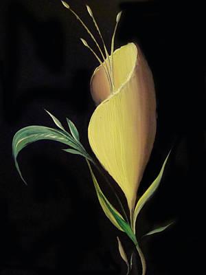 Astashov Venyamin Painting - Yellow Glass And Four by Venyamin Astashov